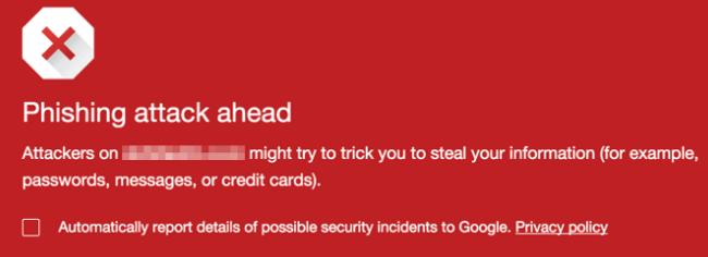 предупреждение гугл